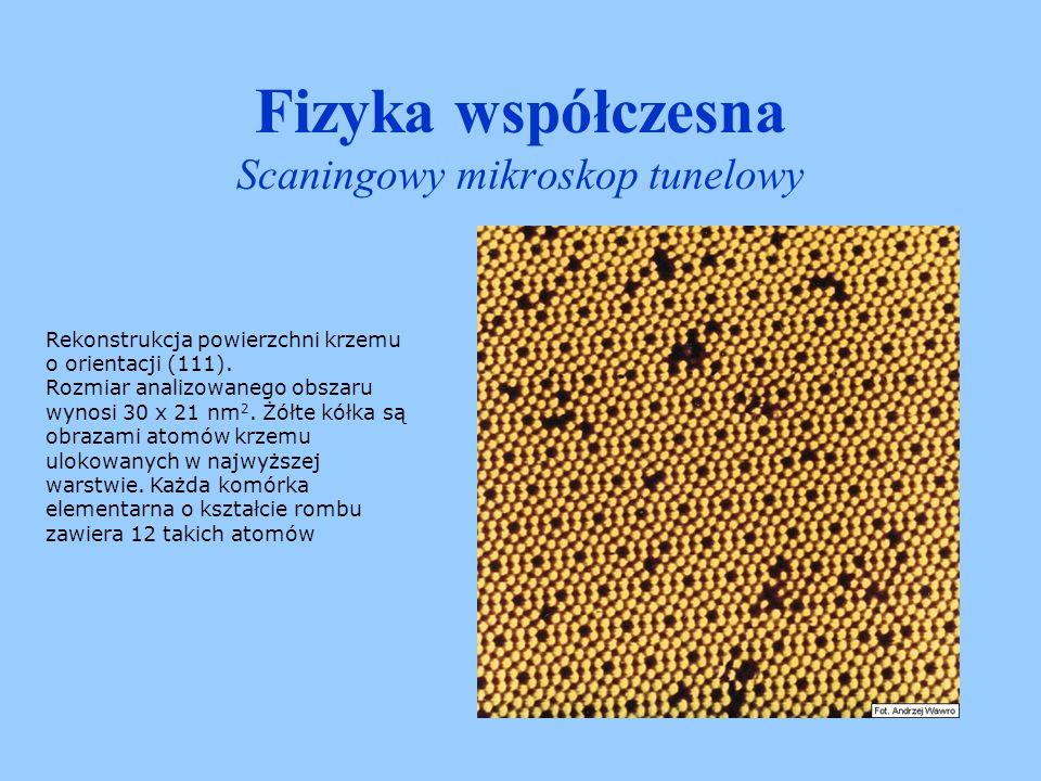 Fizyka współczesna Scaningowy mikroskop tunelowy