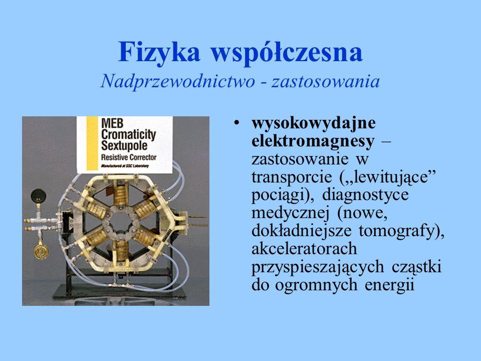 Fizyka współczesna Nadprzewodnictwo - zastosowania