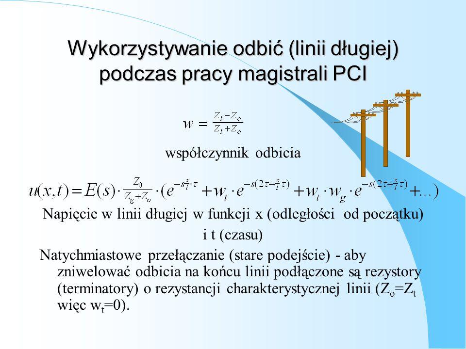 Wykorzystywanie odbić (linii długiej) podczas pracy magistrali PCI