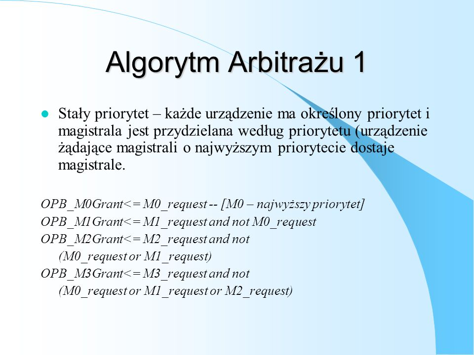 Algorytm Arbitrażu 1