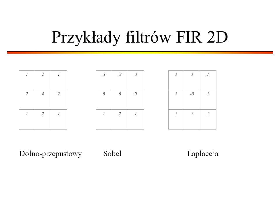 Przykłady filtrów FIR 2D