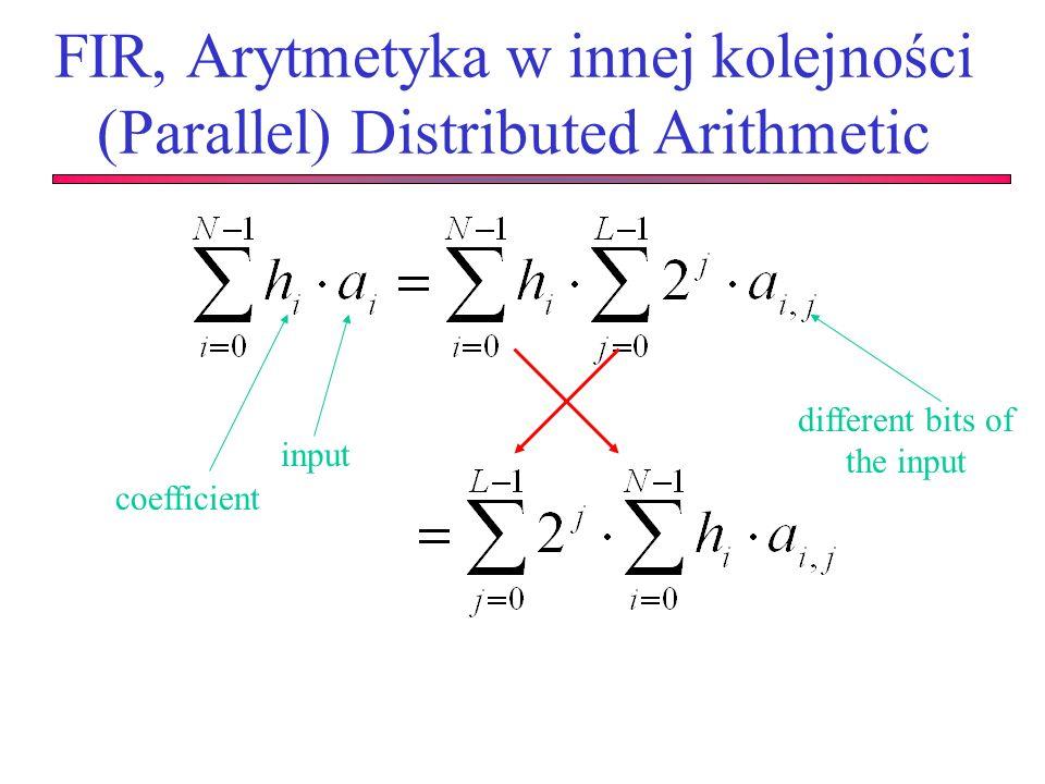 FIR, Arytmetyka w innej kolejności (Parallel) Distributed Arithmetic