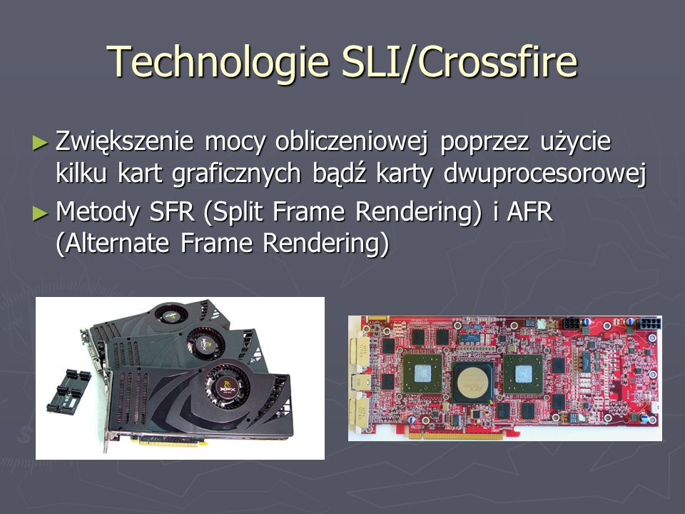 Technologie SLI/Crossfire