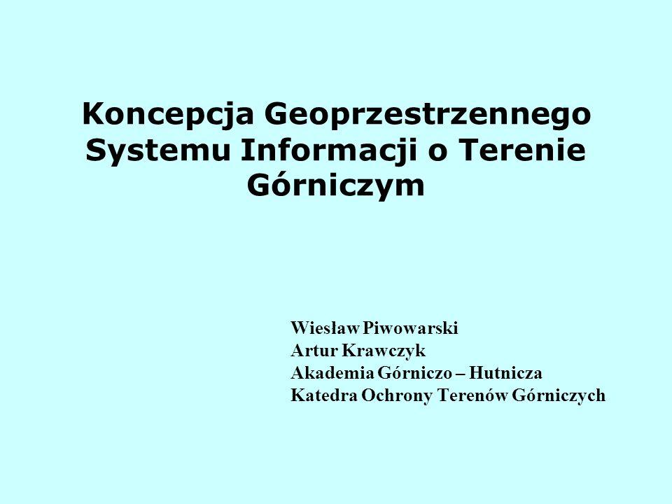 Koncepcja Geoprzestrzennego Systemu Informacji o Terenie Górniczym