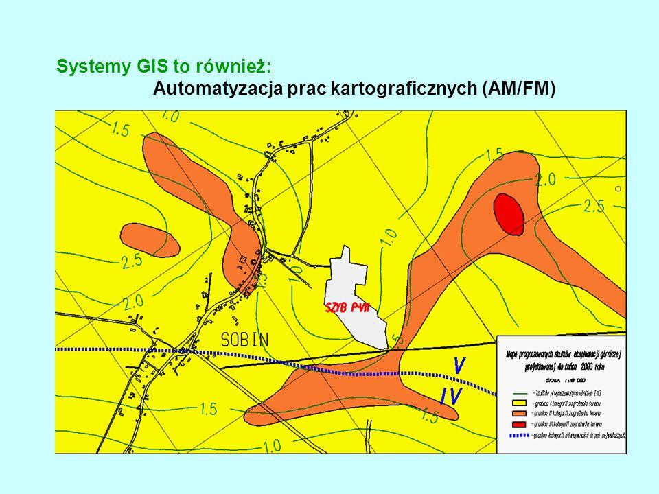 Systemy GIS to również: Automatyzacja prac kartograficznych (AM/FM)