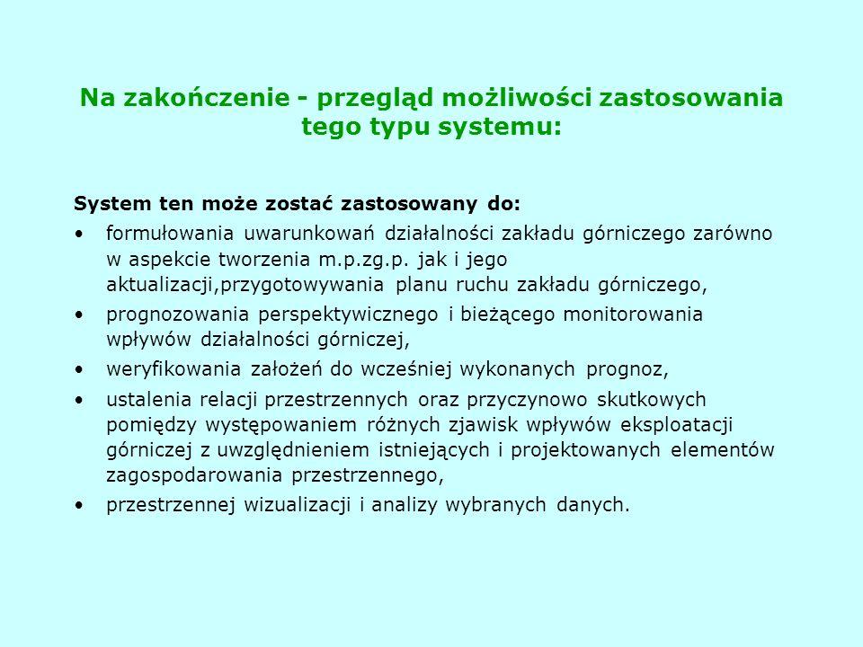 Na zakończenie - przegląd możliwości zastosowania tego typu systemu: