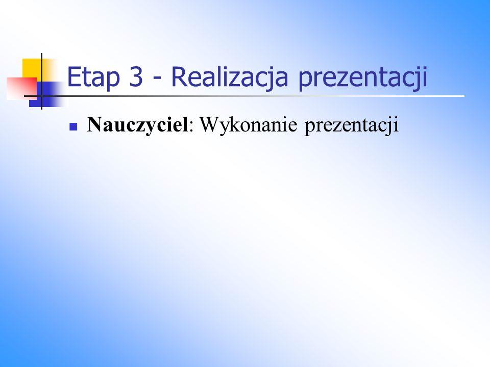 Etap 3 - Realizacja prezentacji