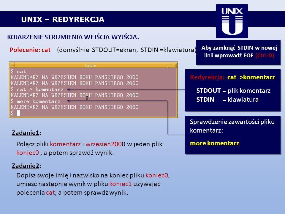 Aby zamknąć STDIN w nowej linii wprowadź EOF (Ctrl-D)