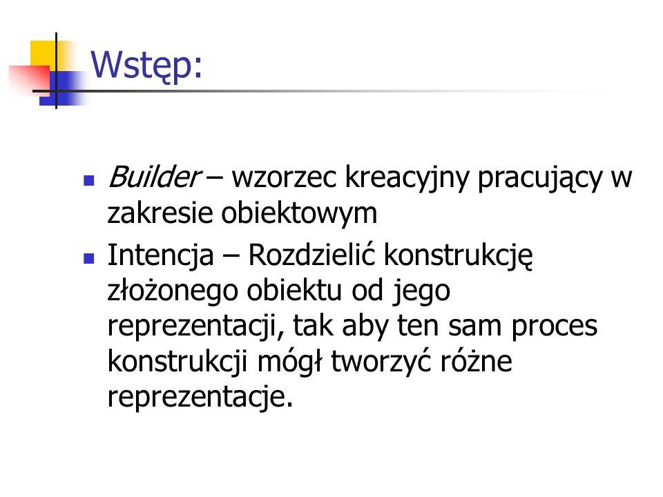 Wstęp: Builder – wzorzec kreacyjny pracujący w zakresie obiektowym