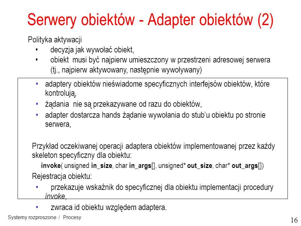 Serwery obiektów - Adapter obiektów (2)