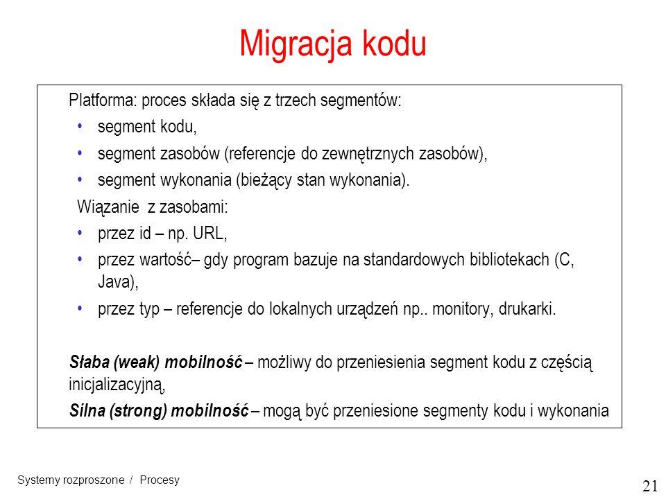 Migracja kodu Platforma: proces składa się z trzech segmentów: