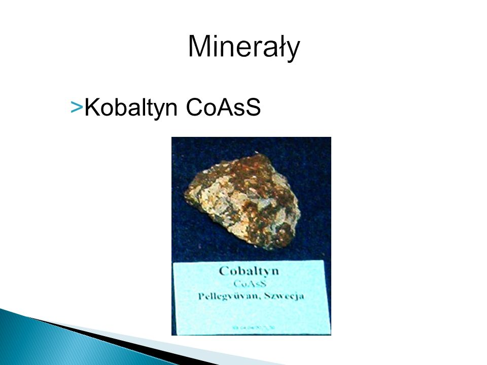 Minerały Kobaltyn CoAsS