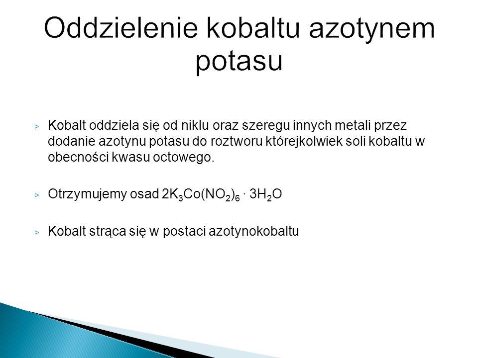 Oddzielenie kobaltu azotynem potasu