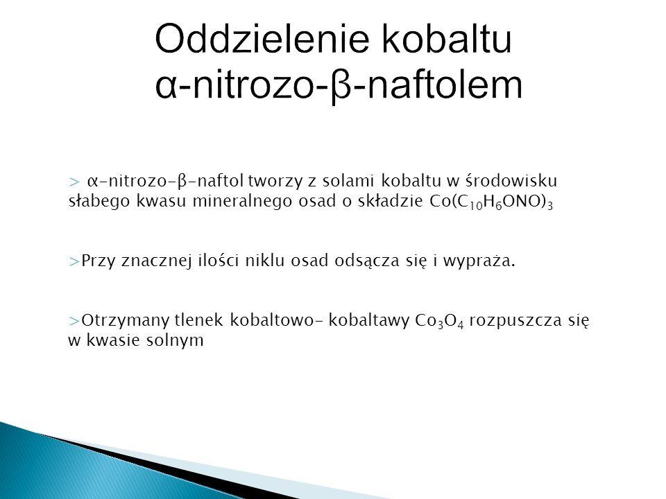 Oddzielenie kobaltu α-nitrozo-β-naftolem