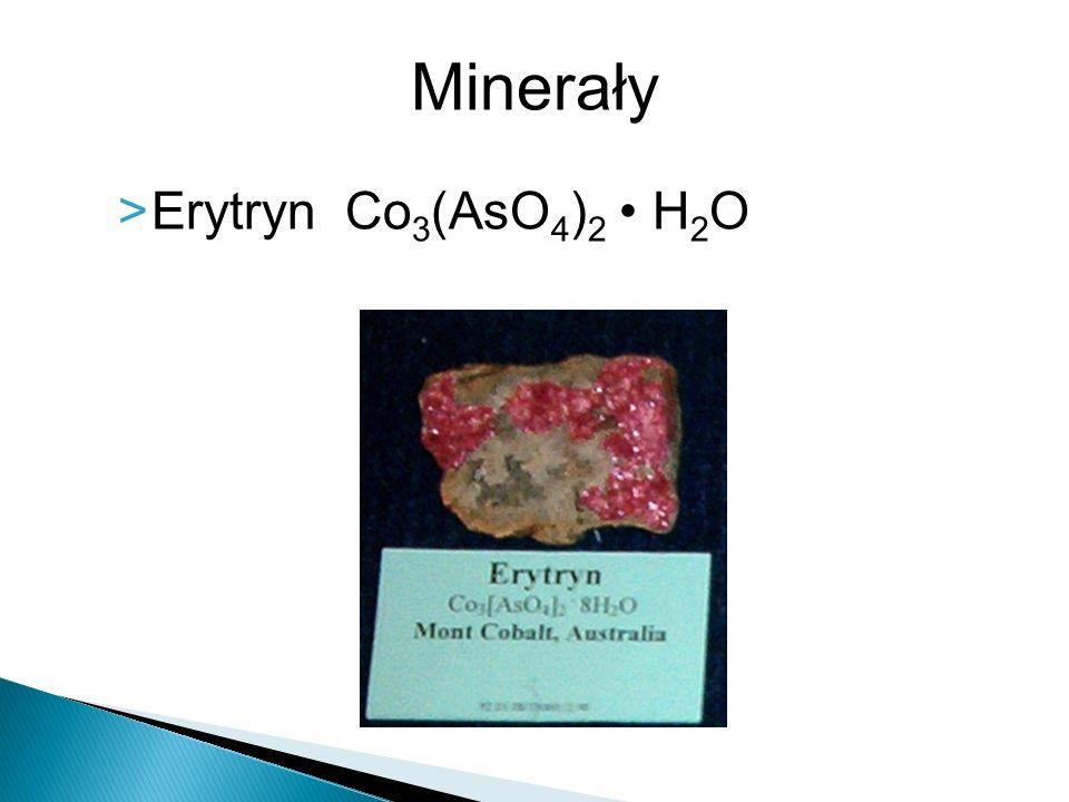 Minerały Erytryn Co3(AsO4)2 • H2O