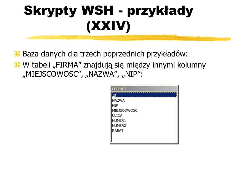 Skrypty WSH - przykłady (XXIV)
