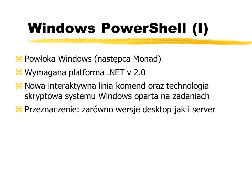 Windows PowerShell (I)