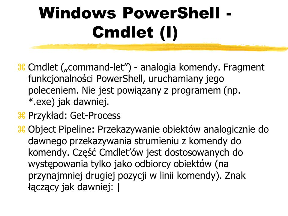 Windows PowerShell - Cmdlet (I)