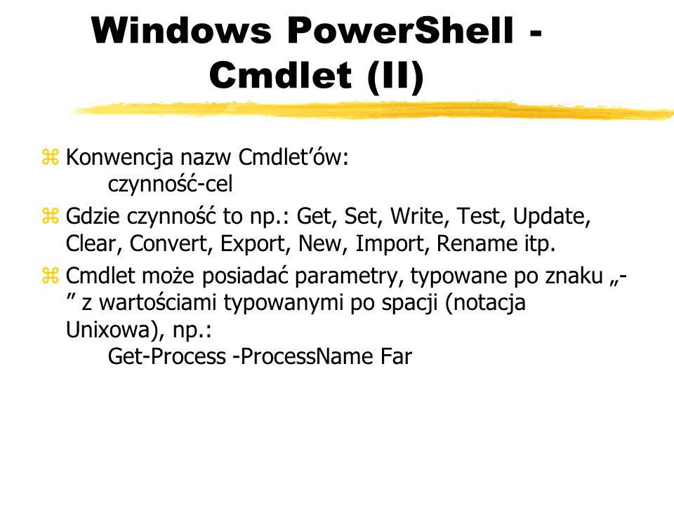 Windows PowerShell - Cmdlet (II)