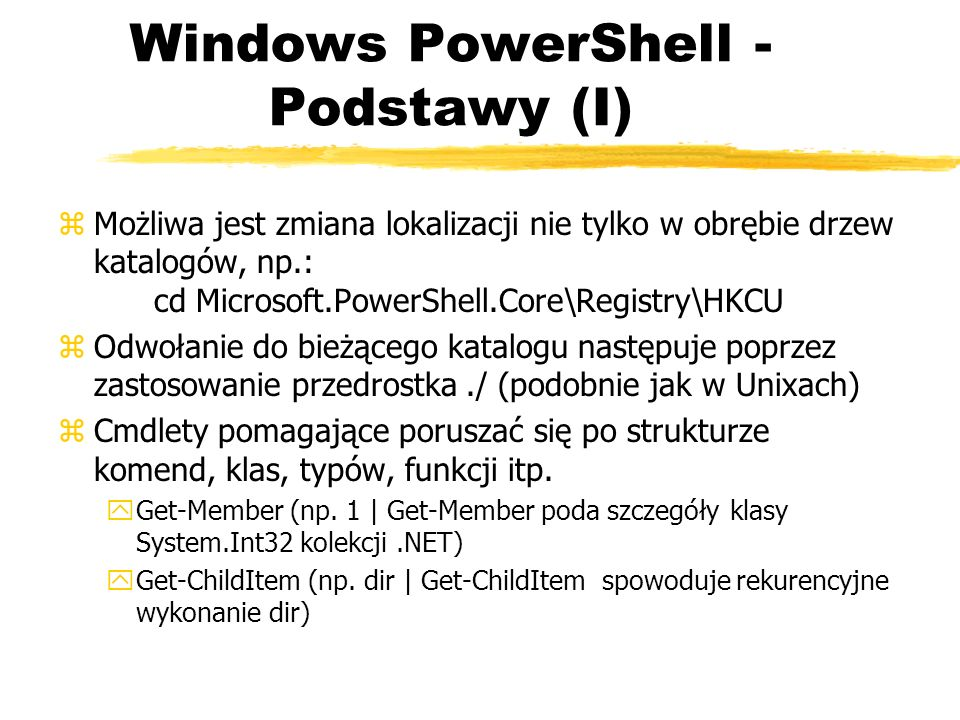 Windows PowerShell - Podstawy (I)