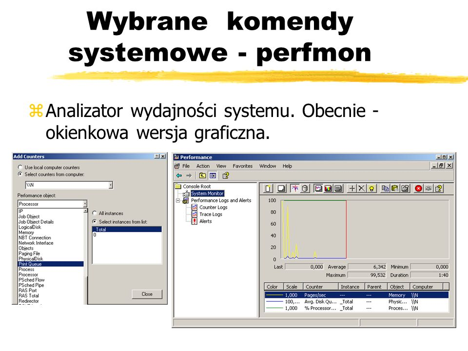 Wybrane komendy systemowe - perfmon