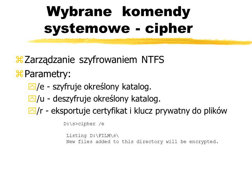 Wybrane komendy systemowe - cipher
