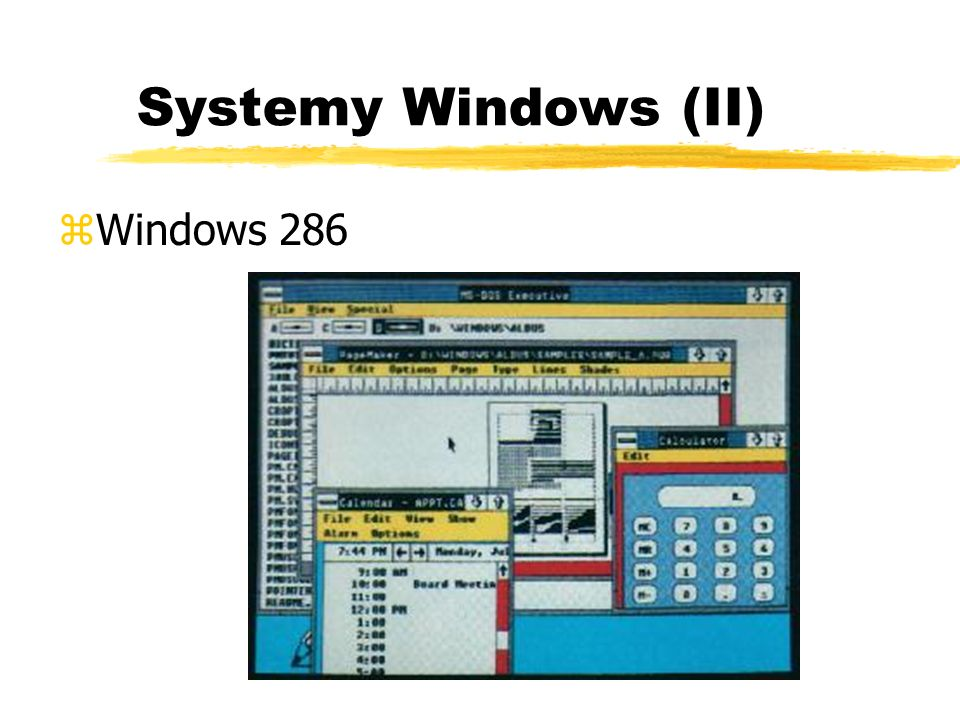 Systemy Windows (II) Windows 286
