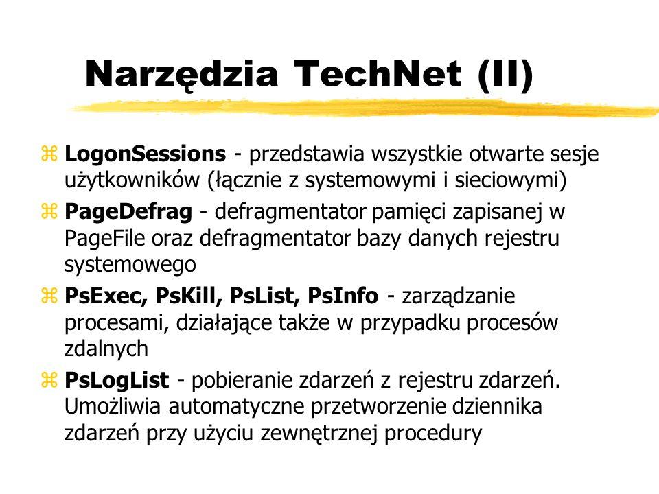 Narzędzia TechNet (II)