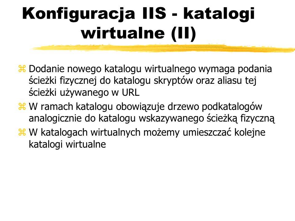 Konfiguracja IIS - katalogi wirtualne (II)