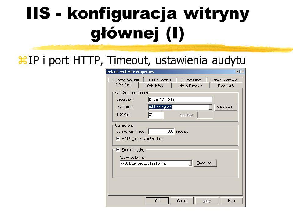 IIS - konfiguracja witryny głównej (I)