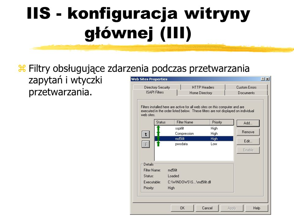 IIS - konfiguracja witryny głównej (III)