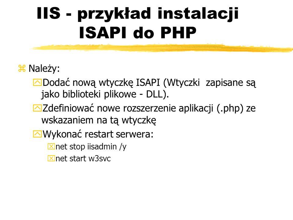 IIS - przykład instalacji ISAPI do PHP