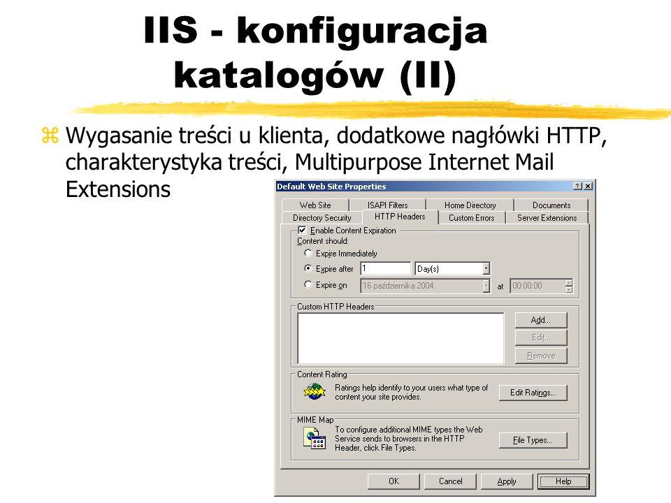 IIS - konfiguracja katalogów (II)