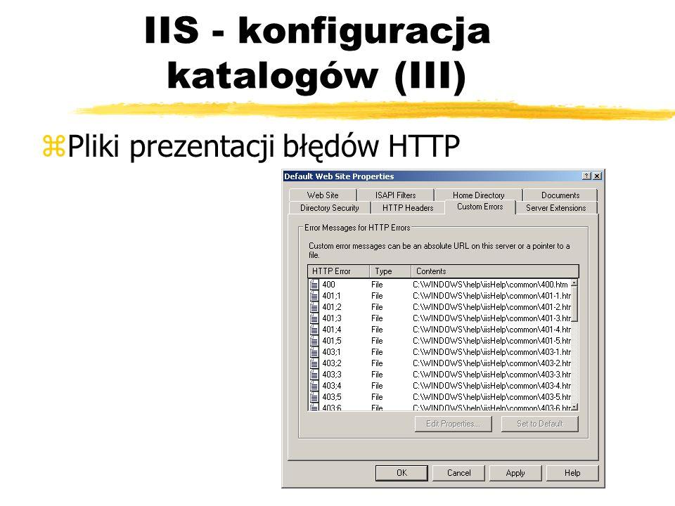 IIS - konfiguracja katalogów (III)