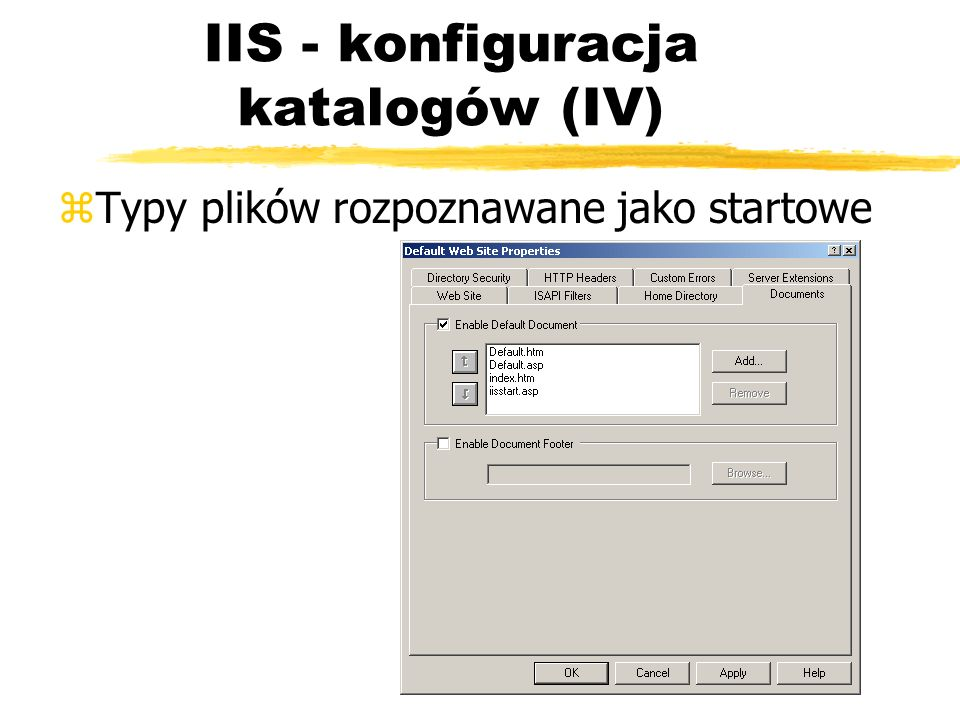 IIS - konfiguracja katalogów (IV)