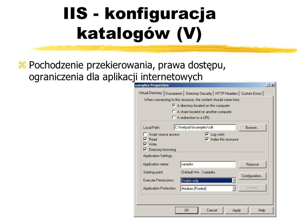 IIS - konfiguracja katalogów (V)