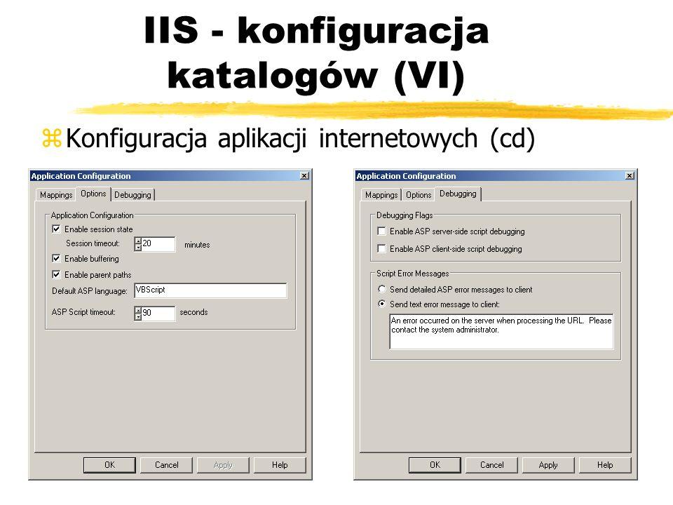 IIS - konfiguracja katalogów (VI)
