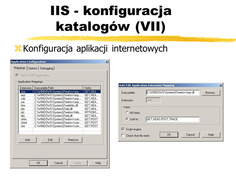 IIS - konfiguracja katalogów (VII)