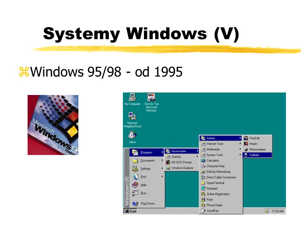 Systemy Windows (V) Windows 95/98 - od 1995