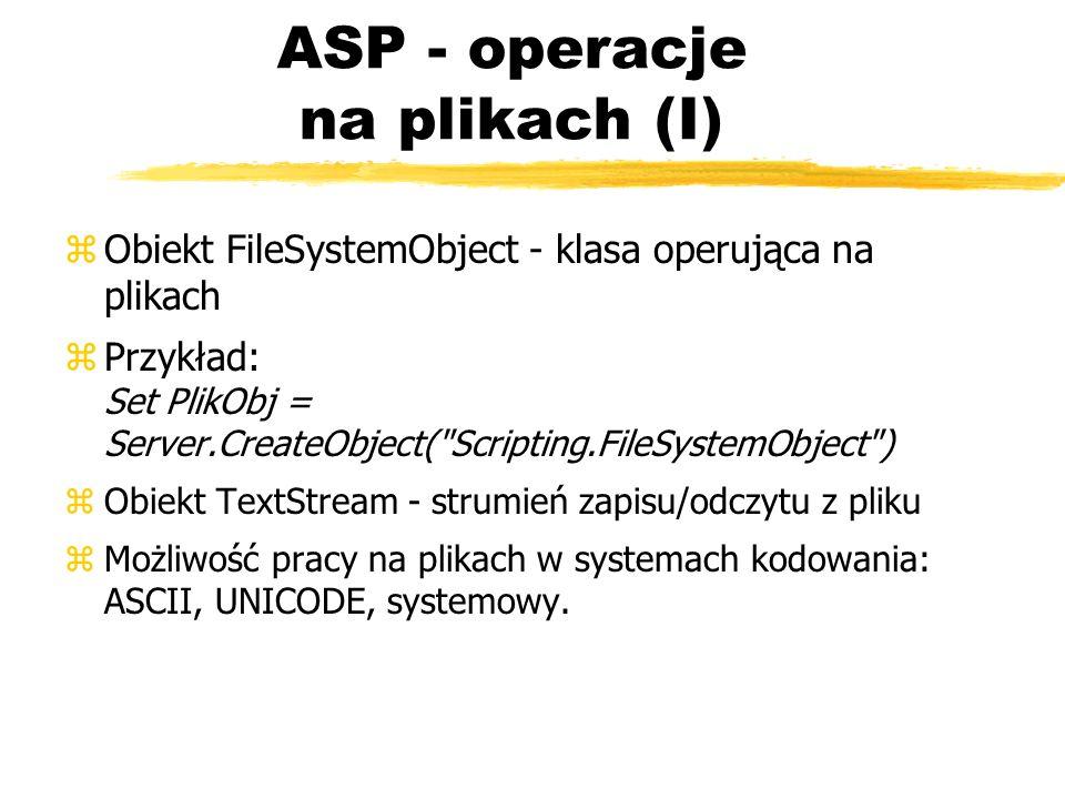 ASP - operacje na plikach (I)