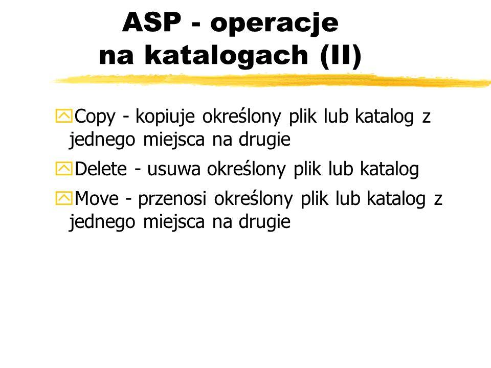 ASP - operacje na katalogach (II)