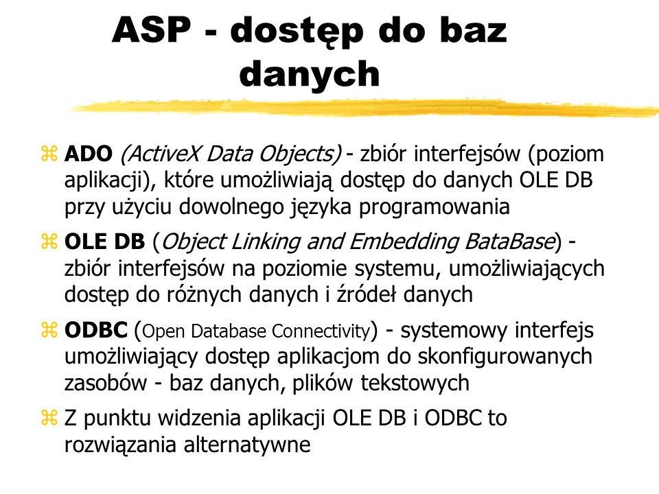 ASP - dostęp do baz danych
