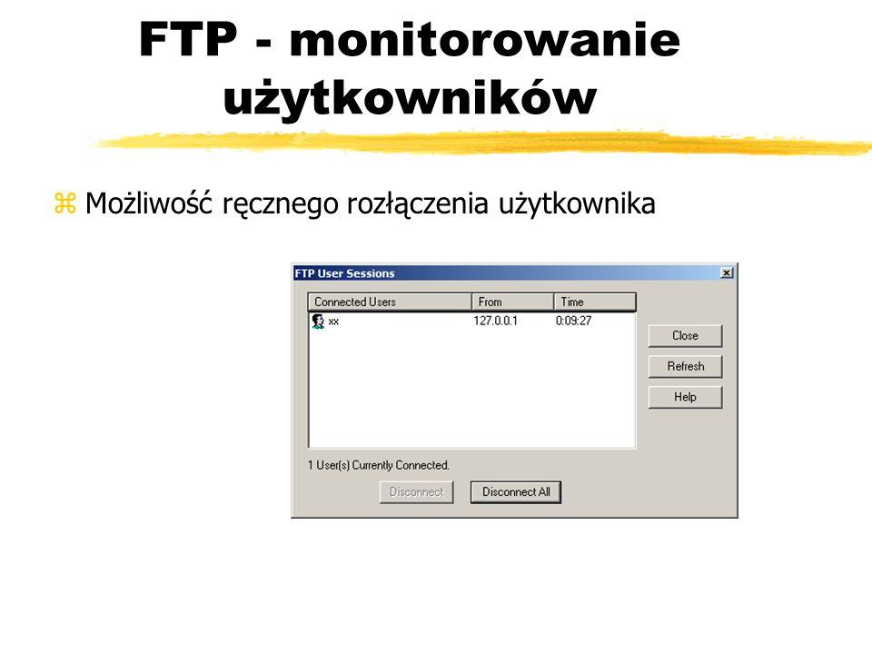 FTP - monitorowanie użytkowników