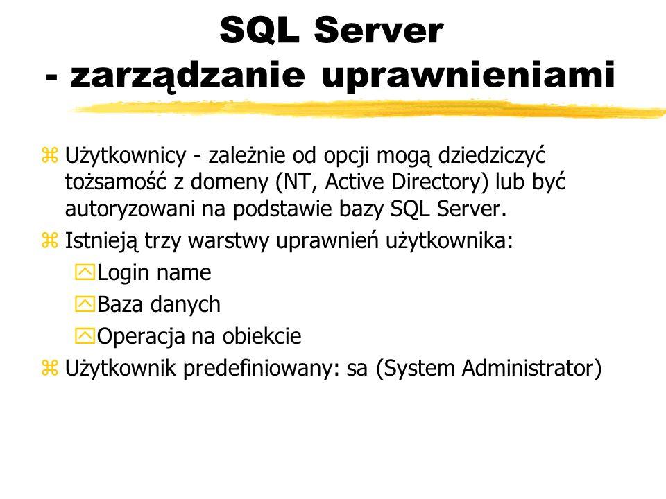 SQL Server - zarządzanie uprawnieniami