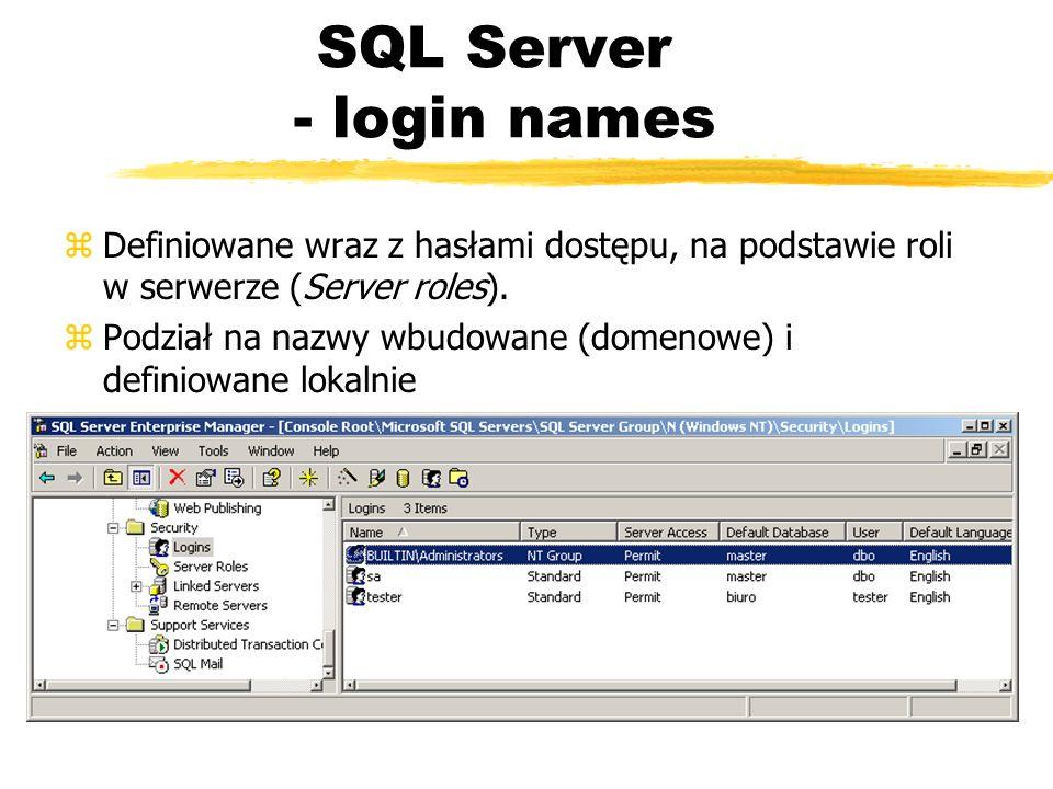 SQL Server - login names