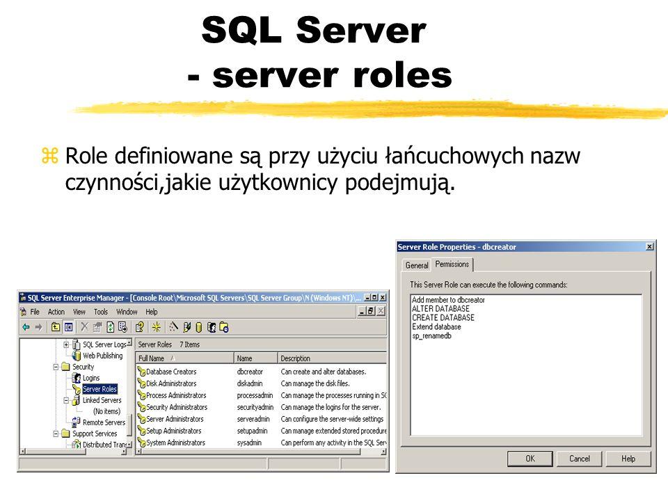 SQL Server - server roles