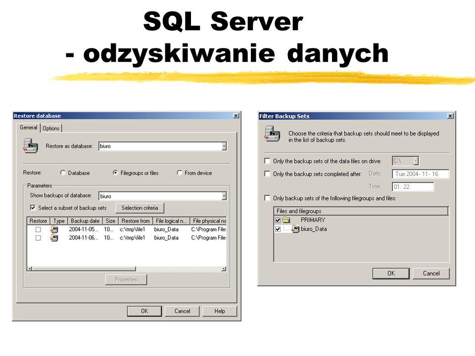 SQL Server - odzyskiwanie danych