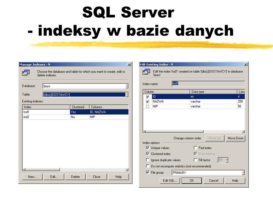 SQL Server - indeksy w bazie danych