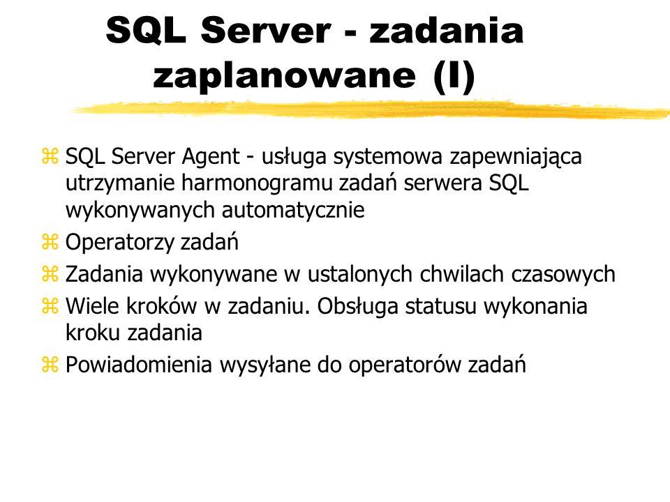 SQL Server - zadania zaplanowane (I)