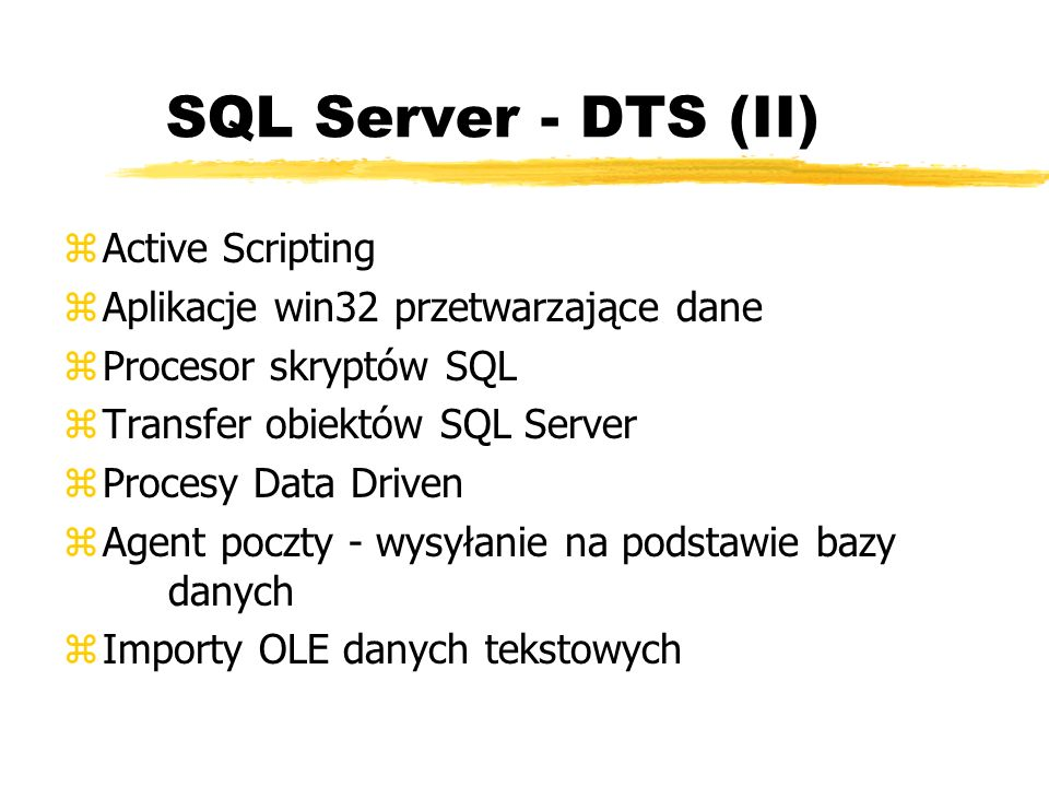 SQL Server - DTS (II) Active Scripting